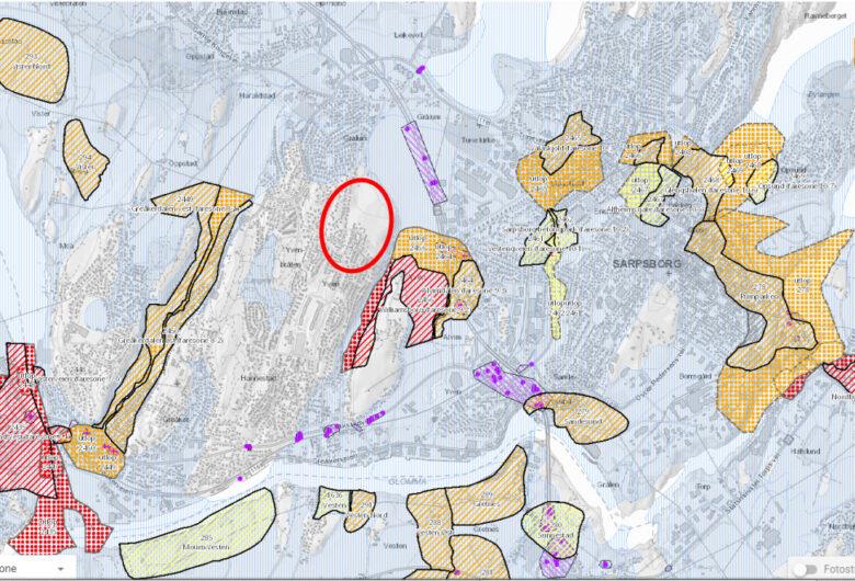 Bildet viser kart over Knattås