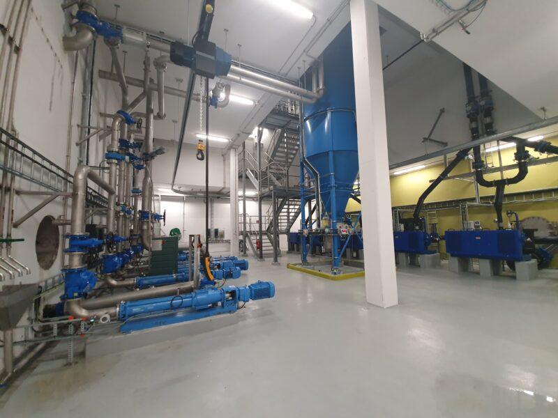 Bildet viser pumpekjelleren i renseanlegget