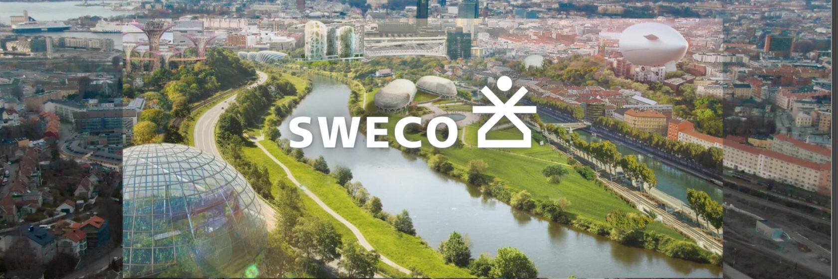 Skjermdump fra fremtidsbilde fra Swecos kampanjevideo