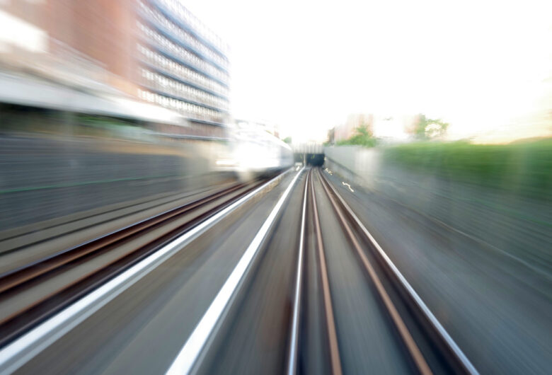 Infrastruktur: Bilde av vei tatt i fart