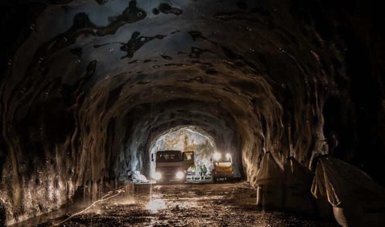 PÅ innsiden av sykkeltunnelen som går fra kristianborg til fyllingsdalen