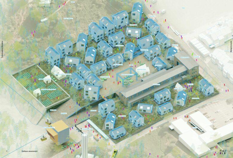 Illustrasjonsbilde av Smartby Bergen Montana, Bergens mest klimavennlige nabolag