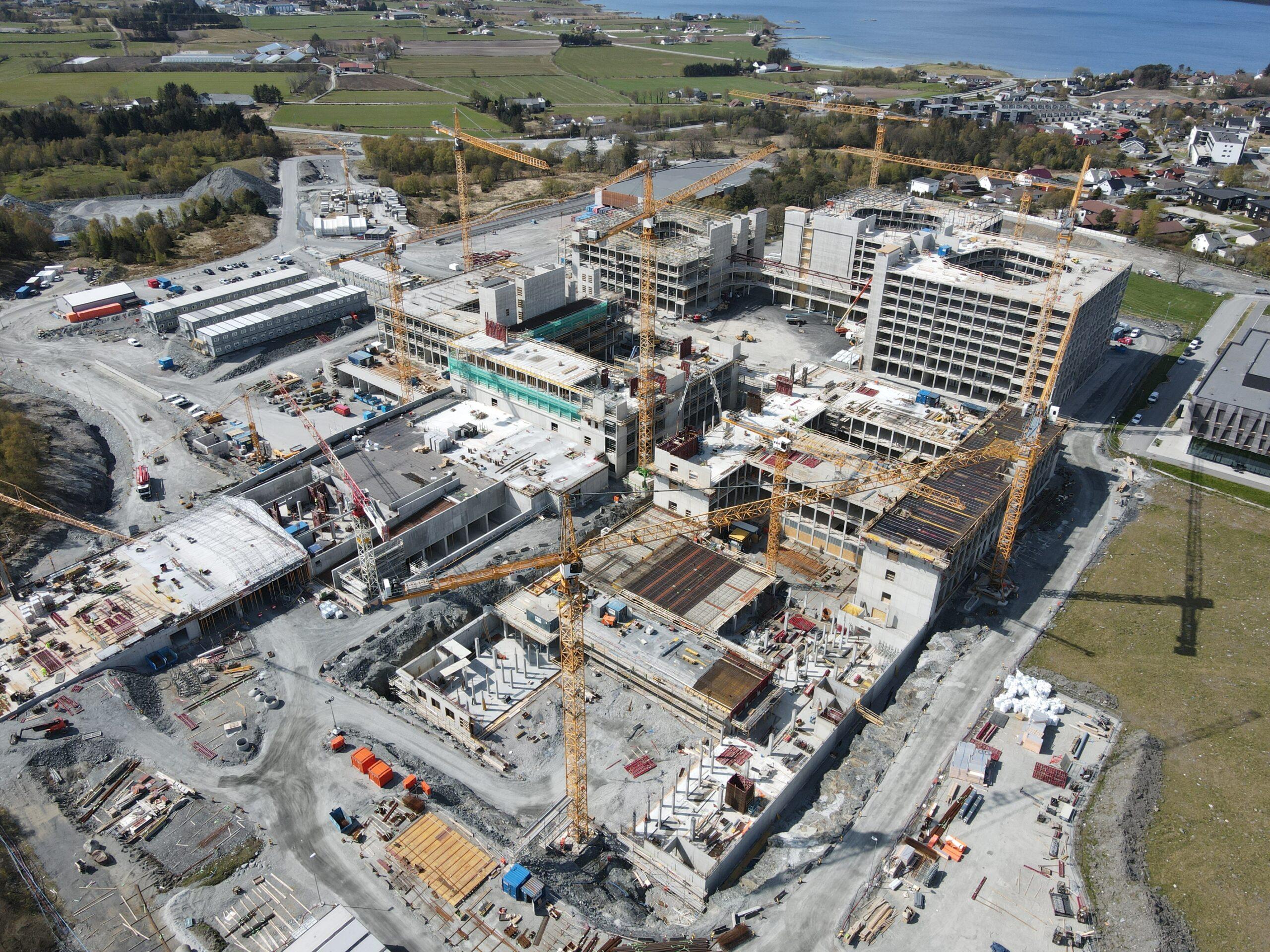 Oversiktsbilde over Norges største byggeplass, Nye Stavanger Universitetssykehus
